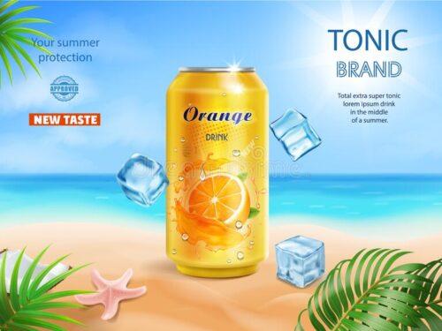 La pubblicità delle bibite tropicali