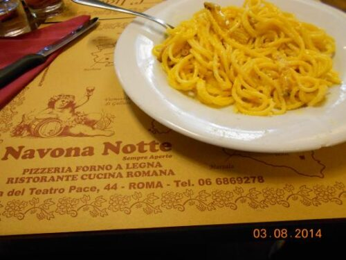 Il ristorante romano Navona notte